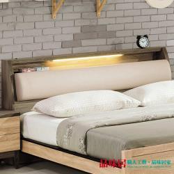 品味居 摩納比 時尚5尺皮革雙人床頭箱
