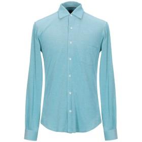 《期間限定セール開催中!》FEDELI メンズ シャツ アジュールブルー 50 コットン 100%