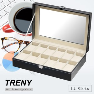 TRENY 12位 手錶收納盒 - 經典皮革