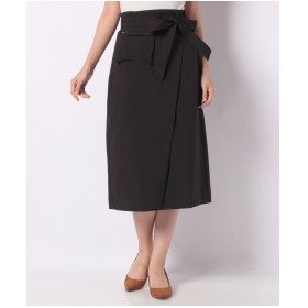 YECCA VECCA ポケットデザインAラインスカート(ブラック)