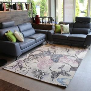 【YFS】舞蝶藍羊毛地毯-160x230cm