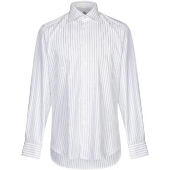 《セール開催中》CASTANGIA メンズ シャツ ホワイト 40 コットン 100%