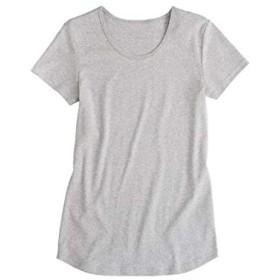 [nissen(ニッセン)] UVカット 綿100% フライス素材クルーネック 半袖 Tシャツ レディース 杢グレー M