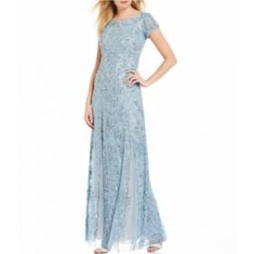 ピサロナイツ Pisarro Nights レディース パーティードレス ワンピース・ドレス Beaded Lace Gown Sky Blue