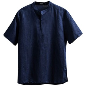 インナーシャツ 男性 Meilaifushi カットソー レイヤード風 スウェット M~4XL 7分袖 Tシャツ 薄手 トップス 無地 切替 秋 冬 春 メンズ