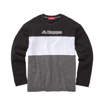 KAPPA(カッパ)配色3段切替 長袖Tシャツ Tシャツ・カットソー