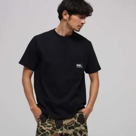 BASE CONTROL(Men)(ベースコントロール(メンズ))【WEB限定】胸BOXロゴ刺繍 半袖Tシャツ ブラック(019) 02(M)