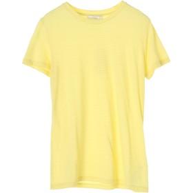 Vince スキニーストライプ 半袖クルーネックTシャツ Tシャツ・カットソー,イエロー