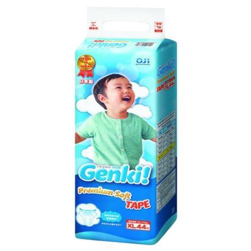 王子 Genki 元氣超柔嬰兒紙尿褲量販特價組(箱)- XL(44片/4包)[免運費]