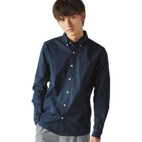 [ロッキーモンロー] 長袖カジュアルシャツ メンズ ネイビー L
