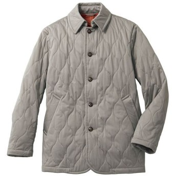 40%OFF【メンズ】 ストレッチ・中綿キルトジャケット(温かさと軽さを両立させた「エアコンダウン」) - セシール ■カラー:グレーベージュ ■サイズ:5L,3L,LL,L,M