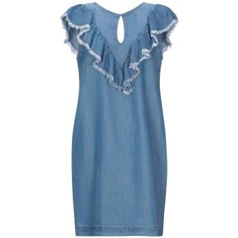 《セール開催中》SEMICOUTURE レディース ミニワンピース&ドレス ブルー 38 指定外繊維(テンセル) 100%