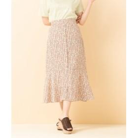 【SALE開催中】【RETRO GIRL:スカート】花ガラ前釦ロングSK