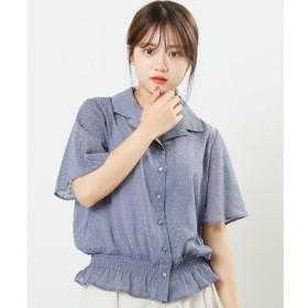 【レイカズン/RAY CASSIN】 カットドビー開襟シャツ