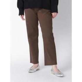 【大きいサイズレディース】【LL-5L展開】ピーチ九分丈パンツ パンツ クロップドパンツ