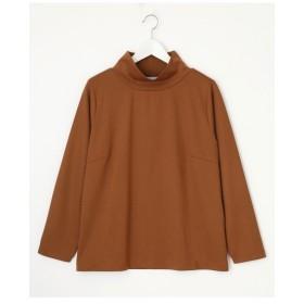 【大きいサイズレディース】【LL-5L展開】タートルネックカットソーTシャツ 大きいサイズ トップス カットソー