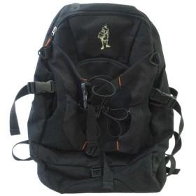 AND1(アンドワン)ロゴ刺繍 バックパック リュック ブラック