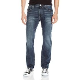 a x Armani ExchangeメンズStraight Fit Medium Wash Jean カラー: ブルー