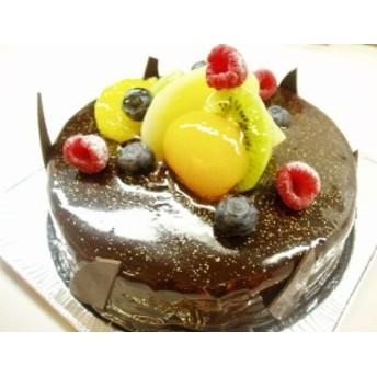 輝くショコラ&フルーツ ショコラクレーム6号サイズ(バースデーケーキ)(お中元)(チョコ