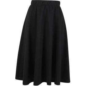 [神戸レタス] ポンチ フレアスカート レディース ひざ丈 [M1767] ワンサイズ(M) ノーマル ブラック