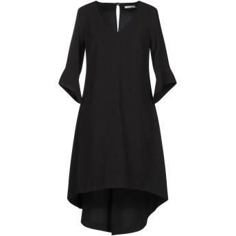 《期間限定セール開催中!》RELISH レディース ミニワンピース&ドレス ブラック 40 ポリエステル 93% / ポリウレタン 7%