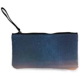 キャンバス小銭入れ美容星空の夜空変更、名刺、コイン パッケージ、財布ユニセックス