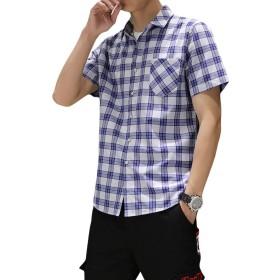 【出血大セール】 メンズ シャツ チェック柄 半袖 tシャツ ワイシャツ チェック yシャツ 大きいサイズ S-6XL カジュアル ビジネス