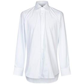《期間限定セール開催中!》CASTANGIA メンズ シャツ ホワイト 41 コットン 100%