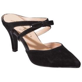 GeeRA リボンモチーフミュール ブラック レディース 5,000円(税抜)以上購入で送料無料 サンダル 夏 レディースファッション アパレル 通販 大きいサイズ コーデ 安い おしゃれ お洒落 20代 30代 40代 50代 女性 靴 シューズ