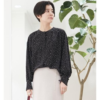【トゥモローランド/TOMORROWLAND】 レイニードットプリント バックギャザーシャツ