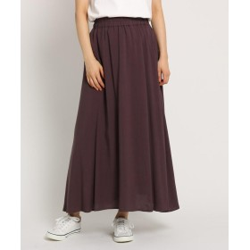 Dessin(Ladies)(デッサン(レディース)) 【Lサイズ、Sサイズあり・洗える】麻レーヨンフレアマキシスカート