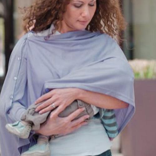 Bonne Nuit Home 寶寶哺乳巾(藍灰色)[免運費]