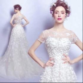 可愛い パーティードレス  素敵  プリンセスライン ワンピース 花嫁   ブライダル  大きいサイズ ウェディングドレス  結