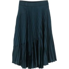 Vince ミックスメディア プリーツスカート ミモレ丈・ひざ下丈スカート,ブルー