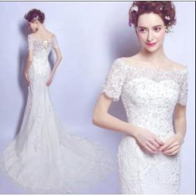 花嫁 プリンセスライン ブライダル ワンピース 大きいサイズ ウェディングドレス ウエディングドレス 結婚式 二次會 パーティー