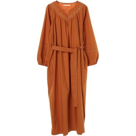 ne Quittez pas ヌキテパ/PORLIN EMB BELT DRESS ワンピース,CAMEL