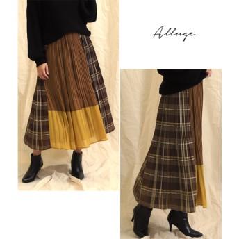 ANAP(アナップ)ブロッキングデザインプリーツスカート