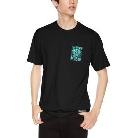 [ダカイン] [メンズ] 半袖 プリント Tシャツ (プレートランチ別注)[ AJ231-209 / PT LCH SPAC TEE ] おしゃれ コラボ BLK_ブラック US L (日本サイズL相当)