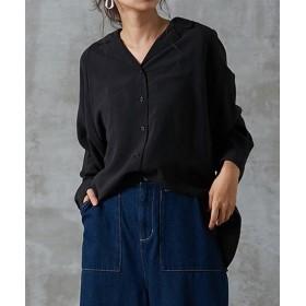オープンカラーワイドシャツ (ブラウス),Blouses, Shirts