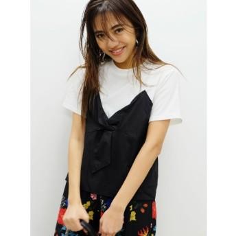 【エヴリス/EVRIS】 バイカラービスチェレイヤードTシャツ