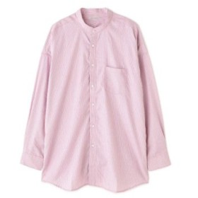 (TORNADO MART/トルネードマート)BLUE TORNADO∴オーバーサイズバンドカラーシャツ/メンズ ピンク