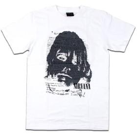 バンドTシャツ ロックTシャツ Nirvana ニルヴァーナ ニルバーナ カート コバーン Lサイズ 白色