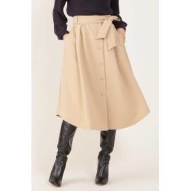 NATURAL BEAUTY ◆[ウォッシャブル]フロントボタンスカート ひざ丈スカート,ベージュ