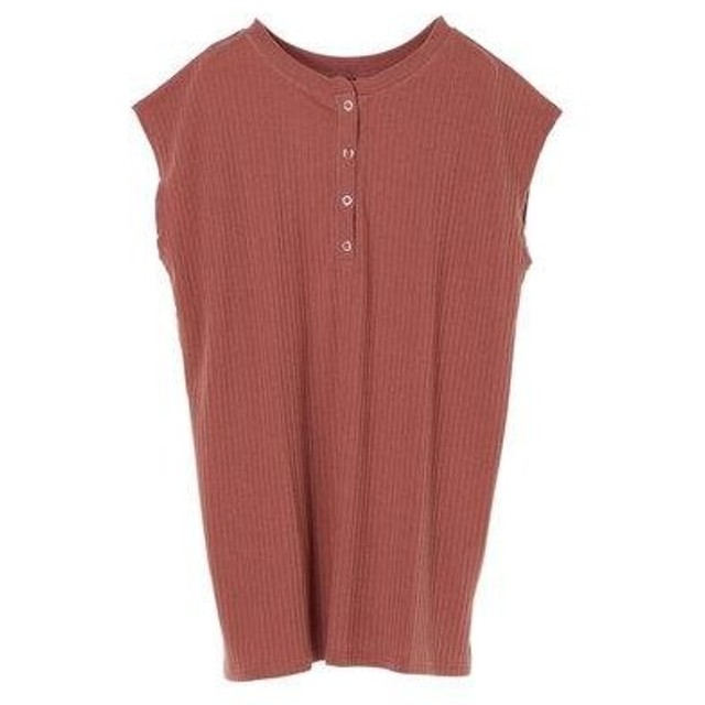 グリーンパークス Green Parks Ray Cassin 2wayヘンリーネックTシャツ (Dark Pink)