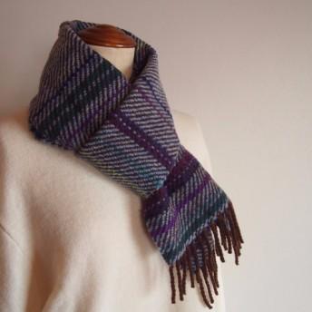 手織り・綾織ウールマフラー