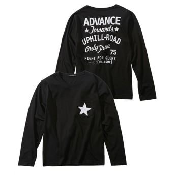 サガラ刺しゅうポケット付前後プリント長袖Tシャツ(男の子 子供服。ジュニア服) Tシャツ・カットソー