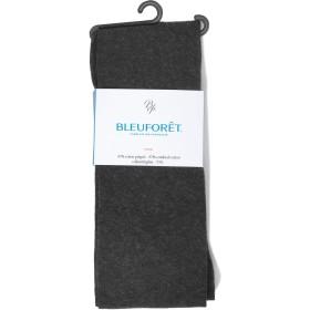 BLEUFORET ブルーフォレ コットンタイツ COLLANT VELOUTE 3000 Mサイズ,Anthracite(チャコールグレー) [並行輸入品]