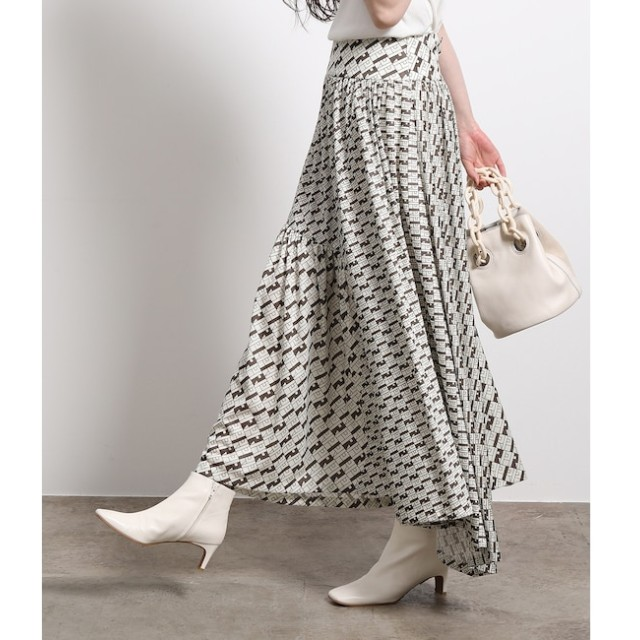 【ロペ マドモアゼル/ROPE madmoiselle】 【ドラマ着用】モノグラムジャージースカート