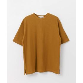 [アーバンリサーチ] tシャツ 強撚ワッフルルーズTシャツ メンズ camel L