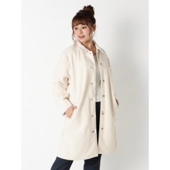 【大きいサイズレディース】【4L-5L】裏ボアで毛布のような暖かさ柔らかくて軽い着心地【裏ボアポケット付きコート】 アウター ムートンコート